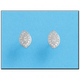 Pendientes de oro blanco con 32 diamantes de 1.00mm