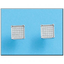 Pendientes de oro blanco con 72 diamantes y talla 1.00mm